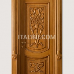 "LUIGI 4014/QQ/INT.  with type ""F"" pillar coated light oak, with carved front panels Classic Wood Interior Doors - №35"