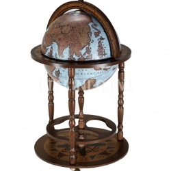 "Zofolli Beech tree bar globe with storage space inside ""Giunone"" - Blue Ocean - №36"