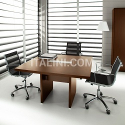 Ideal Form Team Pratiko Steel Walnut Meeting Table - №23