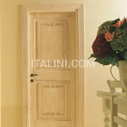 DUCALE 1112/Q Craquelure finish with Leaves decoration Classic Wood Interior Doors - №104
