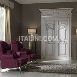 QUIRINALE 1023/QQ  brushed gray ash topcoat with silver Classic Wood Interior Doors - №71