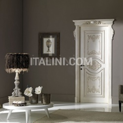 PALAZZO ESTENSE 5018/QQ/INT casing with cyma Estense glazed with silver Classic Wood Interior Doors - №59