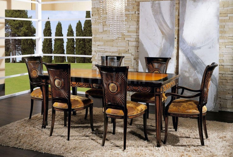 Luxury classic chairs, Art. 3192: Table, Extensible table - №107