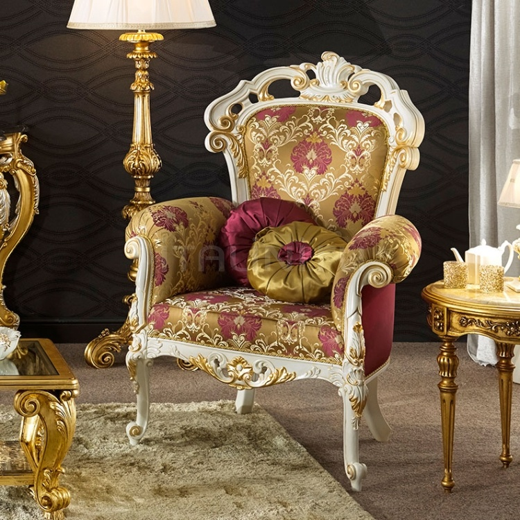 Luxury classic chairs, Art. 3517: Armchair - №129