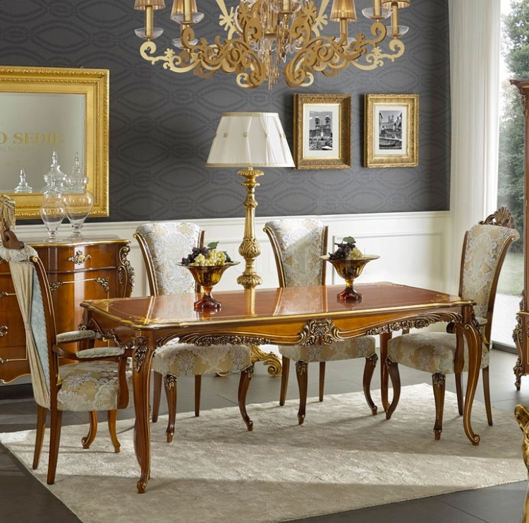 Luxury classic chairs, Art. 3500: Table, Extensible table - №76