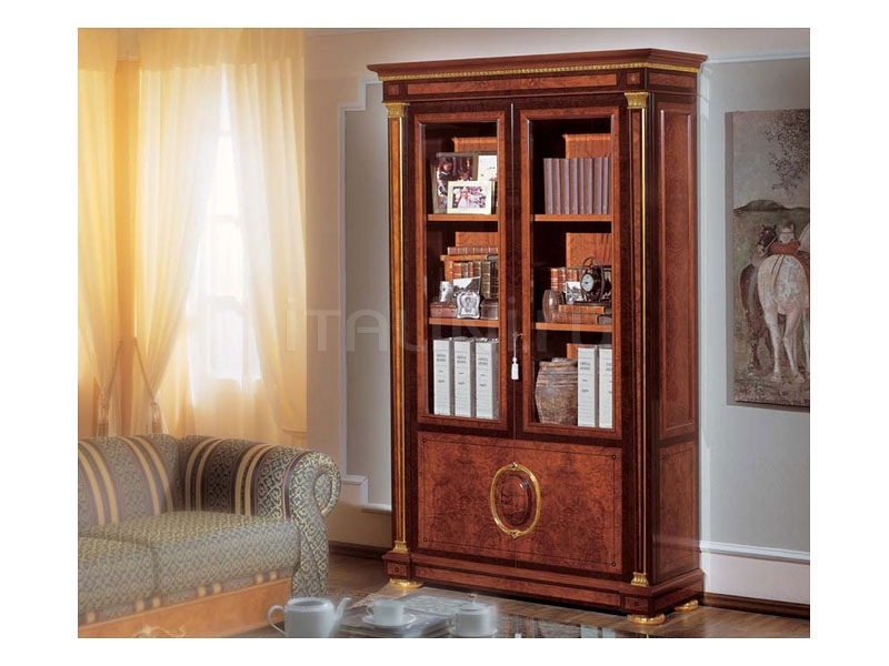 Luxury bookcase Living room  - IMPERO / Bookcase with 2 doors - №32