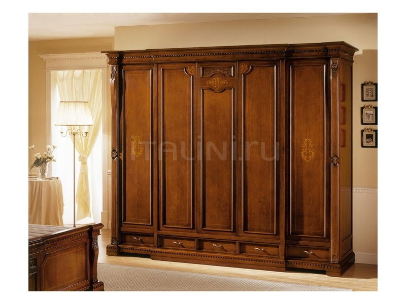 Worked wardrobe Bed zone  - REGINA NOCE / Wardrobe 5 doors - №71