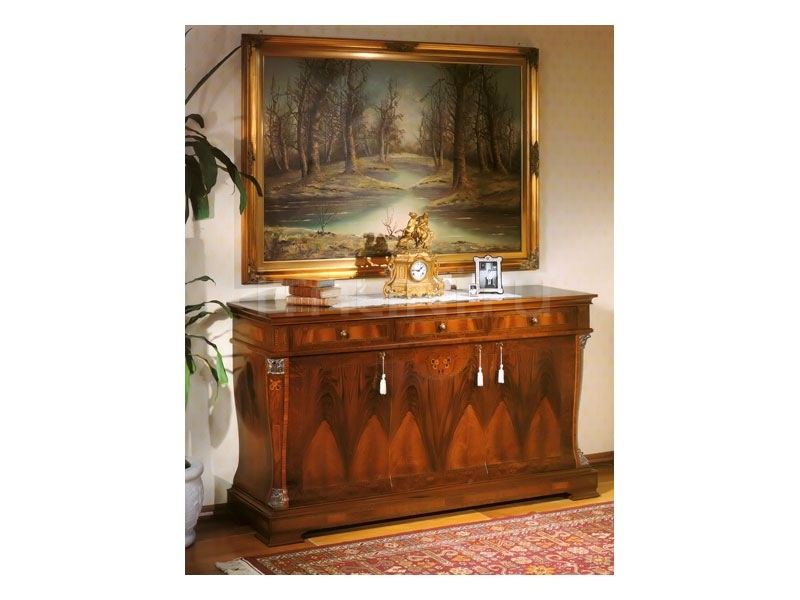 Sideboard in wood Halls  - 99 NOCE / 3 doors sideboard - №5