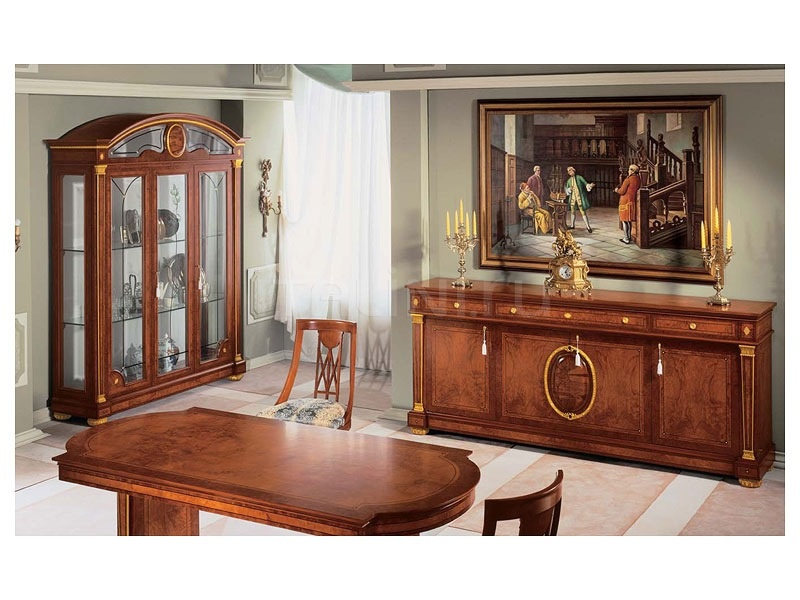 Hand worked display cabinets Dining room  - IMPERO / Display cabinet with 3 doors - №38