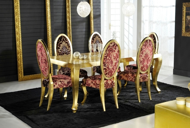 Luxury classic chairs, Art. 3223: Table - №98