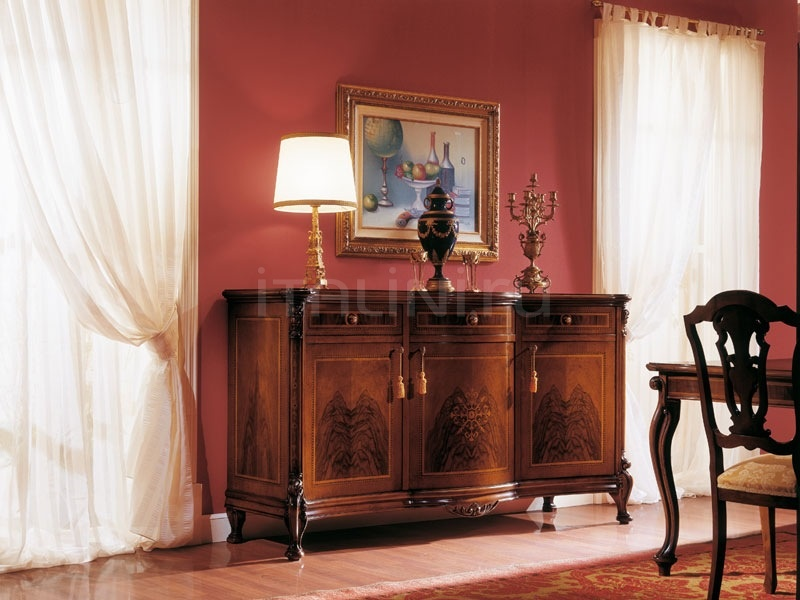 Classic style living room furniture Reception  - ROYAL NOCE / Sideboard with 3 doors - №78