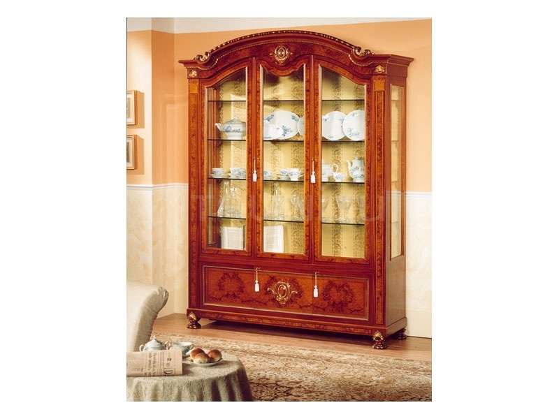 Luxury showcase Antique art gallery  - DUCALE DUCVE3P / Display cabinet with 3 doors - №24